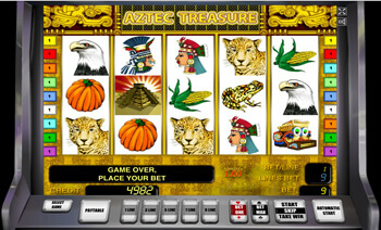 Онлайн игровой зал Вулкан Aztec Treasure